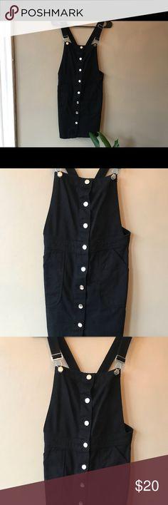 H&M Black overall dress Super cute black overall dress H&M Dresses