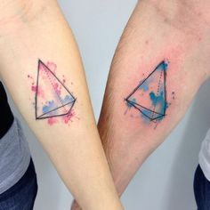 Werdet richtig kreativ mit Aquarell-Tattoos