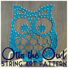 String Art Pattern  Otis the Owl  9.5 x 7.5 by NineRed on Etsy