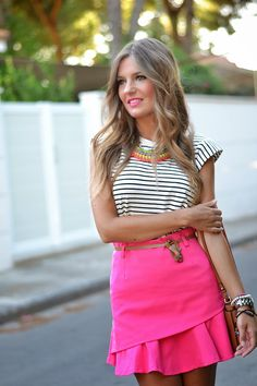 PINK RUFFLE SKIRT | Mi aventura con la moda