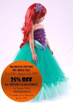 Tutu Skirt - Teal - Mermaid Halloween or Birthday Costume - Tidal Wave Teaser - 12 Month  - 2 Toddler Girl - Cutie Patootie Designz via Etsy