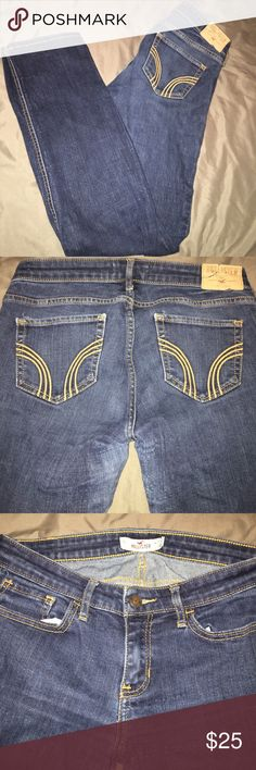 Hollister jeans Skinny jeans! Good condition just too small on me. They are a 5short Hollister Jeans Skinny
