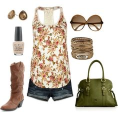 Love this look! I don't know if I can pull off cowboy boots but everything else is super cute!