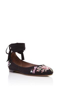 9f1aa8ebe40cf Daria Rose Ballerina Flats by TABITHA SIMMONS Now Available on Moda  Operandi Black Ballet Shoes