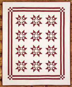 Create your own symbol of American Heritage with a patriotic quilt of stars within stars. Heritage Star -Patriotic Quilts