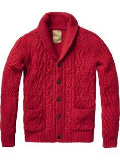 Japanese styled knitted cardigan - Pulls - Scotch & Soda Online Shop