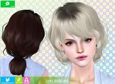 J191 Darling hair by Newsea - Sims 3 Downloads CC Caboodle