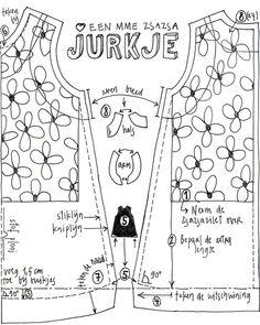 Girl's dress DIY pattern Jurkje by Mme Zsazsa, via Flickr