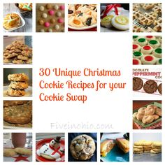 30 Unique Christmas Cookies Pinning for the hot cocoa cookies - extra hot cocoa and add the marshmallows onto the cookies before baking per other bakers' suggestions