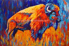 Bison at Dusk by Theresa Paden  ~  x