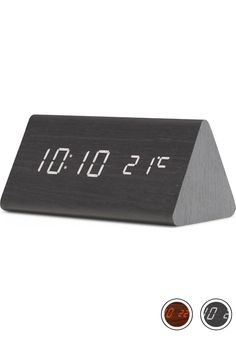 MADE Triangle Digital Alarm Clock, Black. Express delivery. Walnut. Odette Clocks Collection from MADE.COM...