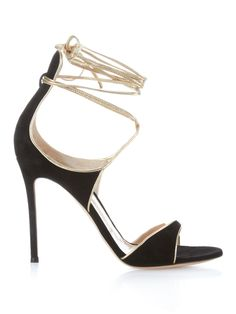 Suede ankle-wrap stiletto heels   Gianvito Rossi   MATCHESFASHION.COM UK