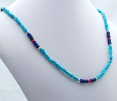 Turquoise, Lapis Lazuil & Coral Necklace - Statement - Strand - Gemstone - Southwest - December Birthstone - September Birthstone