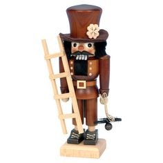 Create a festive holiday vignette on your console table or mantel with this chimney sweep nutcracker decor, perfect paired with classic garland and twinkling...