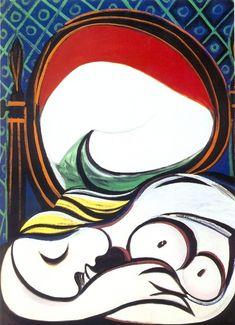'der spiegel', öl von Pablo Picasso (1881-1973, Spain)