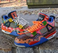 """Nike Air Force 1 """"Supreme"""" x """"LV"""" x RugRats - Hightop Custom Shoes Nike Shoes Air Force, Nike Air Force Ones, Custom Made Shoes, Custom Sneakers, Nike Air Jordans, Sneakers Mode, Sneakers Fashion, Shoes Sneakers, Jordan Sneakers"""