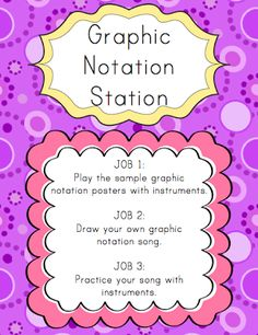Centers: Graphic Notation Station | Elementary Music Resources