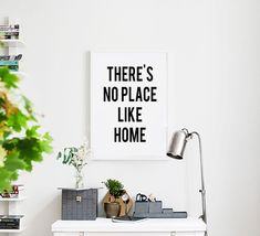 There's No Place Like Home Inspirational Quote Print Motivational Poster Black and White Typography Poster Inspiring Wizard of Oz Quote