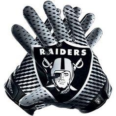 #fanatics Nike Oakland Raiders Vapor Jet 2.0 Team Authentic Series Gloves