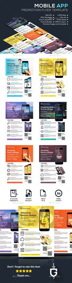 Mobile App Promotional Flyer Promotional flyers, Mobile app and App