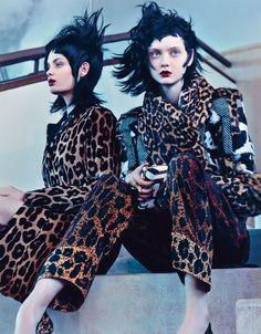 'Zero To Sixty' Ondria Hardin, Juliana Schurig, Nastya Kusakina, & Stef Van Der Laan By Craig McDean For W August 2013 [Editorial] - Fashion Copious