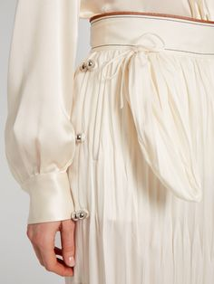 Click here to buy Loewe Patch-pocket midi skirt at MATCHESFASHION.COM