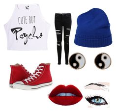 """""""Random Outfit"""" by wolfnerd1 ❤ liked on Polyvore featuring moda, Miss Selfridge, Converse, malo y Accessorize"""
