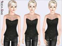 Corset top by Irida - Sims 3 Downloads CC Caboodle