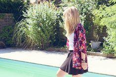 ...☆... . ---------------------------------  DIY Couture : Passion Kimono à fleurs
