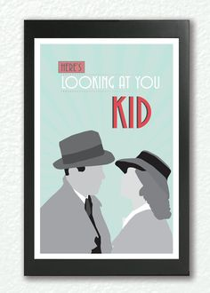 CasablancaClassic Movie Poster quote poster by GoodNightOwlDesigns, $22.00