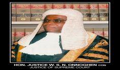 Breaking: Buhari Swears In Onnoghen As Acting CJN