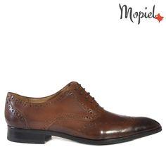 Pantofi barbati, din piele 13701/Castaniu-Ape/Frank Men Dress, Dress Shoes, Derby, Oxford Shoes, Lace Up, Casual, Fashion, Moda, Oxford Shoe