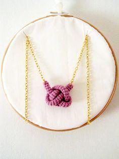 crochet knot necklace