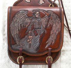 Hand Made Custom Leather Motorcycle Saddle Bags by 2nd Chance Custom Leather | CustomMade.com
