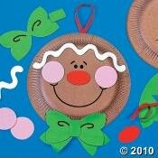 Paper plate  ginger bread man