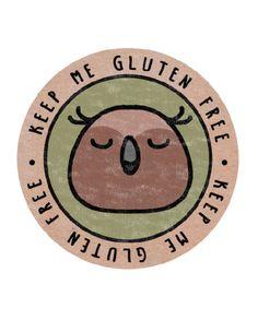 Woodland Owl – Keep Me Gluten Free Stickers – x18