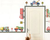 Terrific Trucks Wall Decals (Repositionable). $39.00, via Etsy.