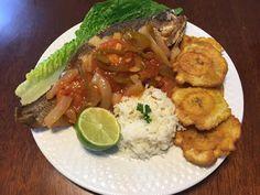 Receta de pescado frito en Salsa a la Tipitapa | Recetas 100% Nicaragüenses