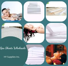 Buy Premium-Quality Spa Sheets for your Massage and Treatment Table from HY Supplies Inc.! #spasheets #spasheetswholesale #drawsheets #pillowsheets