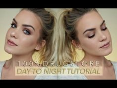 Day to Night, 100% DRUGSTORE Makeup: Cheap + Quick + Grungy🍂 | Mariah Leonard - YouTube