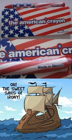 irony..