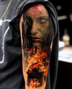 Tatuajes a color para hombres
