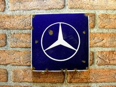 MERCEDES Emblem Porcelain Enamel Sign Vintage 7.9 x 7.9 in GARAGE Man Cave Gift Man Cave Gifts, Man Cave Garage, Old Signs, Vintage Signs, Porcelain, Enamel, Posters, Art, Art Background
