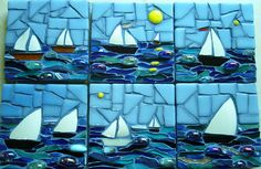 Sailing! - Mosaic by Natalie Warne