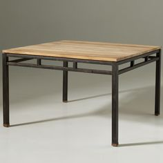 1000 ideas about table carr e bois on pinterest for Table manger carree