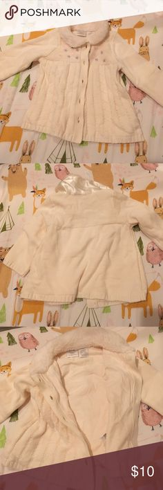 Infant Sweater 9 months New without tags- this adorable beige sweater has cable knit, fuzzy collar and star/heart accents. Soft cotton lining. Koala Kids Jackets & Coats