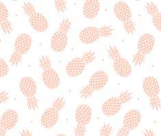 Fitted Crib Sheet Pink Geometric Pineapples Blush Crib by ModFox
