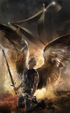 New City of Heavenly Fire cover art: Sebastian/Jonathan with Destined rune