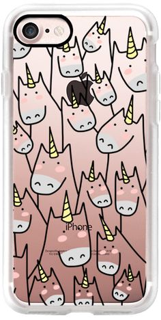 Casetify iPhone 7 Classic Grip Case - Lots of Unicorns - Unicorn Crowd - For Unicorn Lover - 2 by Happy Cat Prints #Casetify