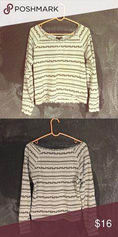 Aztec Long Sleeve Cotton Aztec Pattern Long Sleeve Top Fifth Sun Tops Tees - Long Sleeve